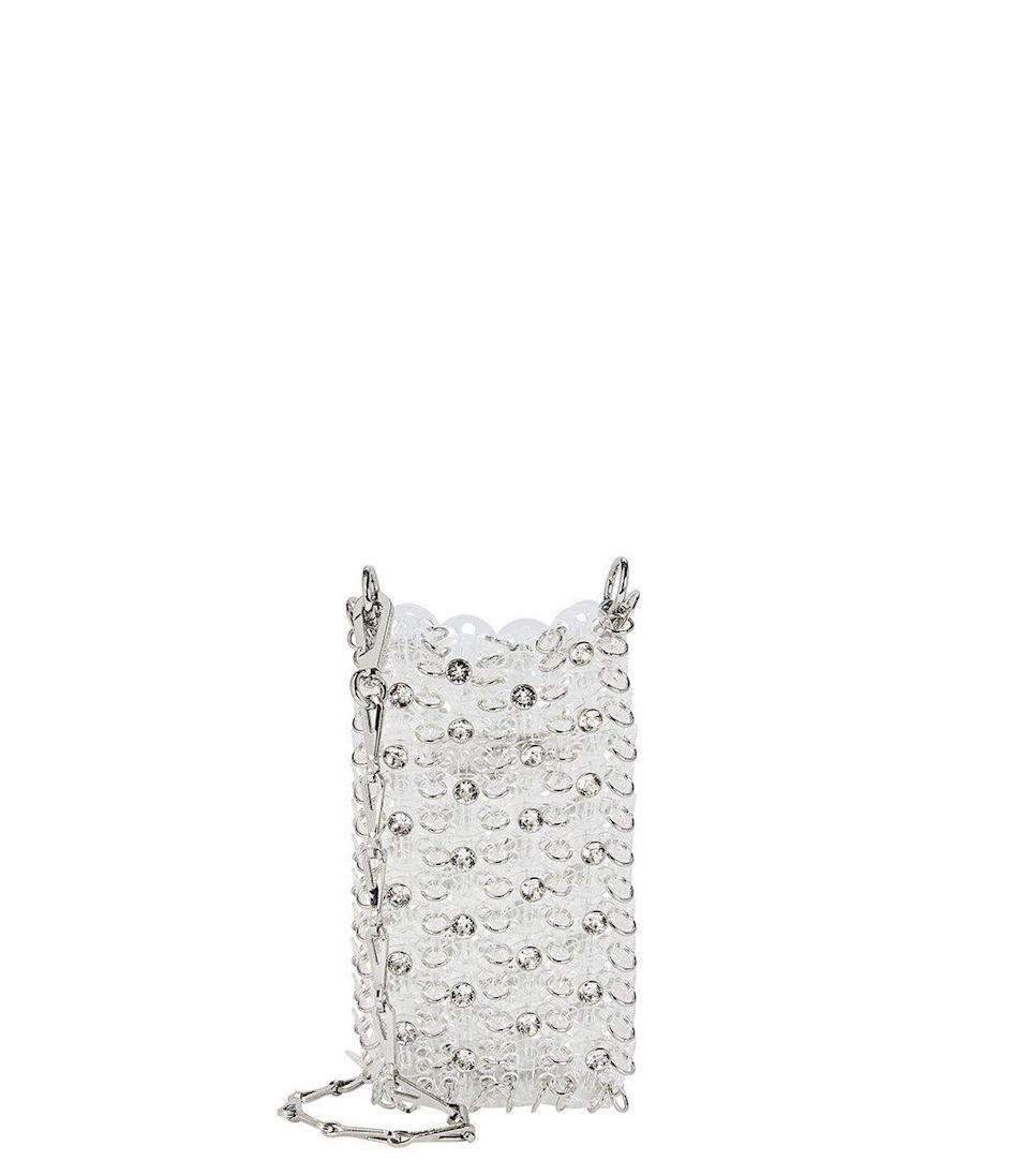 """<p><strong>Paco Rabanne</strong></p><p>ShopBAZAAR.com</p><p><strong>$445.00</strong></p><p><a href=""""https://go.redirectingat.com?id=74968X1596630&url=https%3A%2F%2Fshop.harpersbazaar.com%2Fdesigners%2Fpaco-rabanne%2Fmini-clear-1969-crsbody-bag-with-embellishment-59112.html&sref=https%3A%2F%2Fwww.harpersbazaar.com%2Ffashion%2Ftrends%2Fg35048473%2Fbags-for-2021%2F"""" rel=""""nofollow noopener"""" target=""""_blank"""" data-ylk=""""slk:Shop Now"""" class=""""link rapid-noclick-resp"""">Shop Now</a></p><p>If you're looking to add some glitz and glam to your winter apparel, then try starting off with this hands-free carryall. Though it makes for the perfect cross-body, we suggest wearing it as a necklace for a unique look. </p>"""