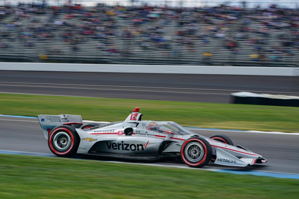 Will Power navigates the road course at Indianapolis Motor Speedway on Oct. 3, 2020.