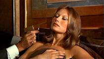 """<div class=""""caption-credit""""> Photo by: United Artists</div><div class=""""caption-title"""">Then</div>Maud Adams, 67, was a supermodel and one of the most famous women of the 007 franchise. In 1974's """"The Man with the Golden Gun"""" she played Andrea Anders, the mistress of the film's villain, Scaramanga. Adams was such a hit, they asked her back to play the title character in 1983's """"Octopussy."""" Her character was a jewel smuggler and wealthy businesswoman."""