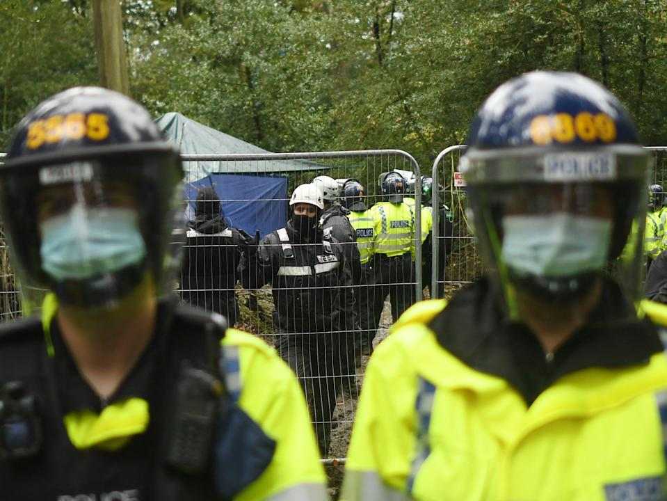 Protesters at Jones Hill Wood were evicted while they said they were protecting bats, badgers, tawny owls and foxes (Getty Images)