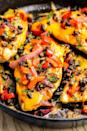 """<p>Tex-Mex at its finest: This skillet chicken is topped with melty cheddar and a delicious black bean-red onion mixture.</p><p><span>Get the recipe from </span><a href=""""/cooking/recipe-ideas/recipes/a46562/santa-fe-skillet-chicken-recipe/"""" data-ylk=""""slk:Delish"""" class=""""link rapid-noclick-resp"""">Delish</a><span>.</span></p>"""