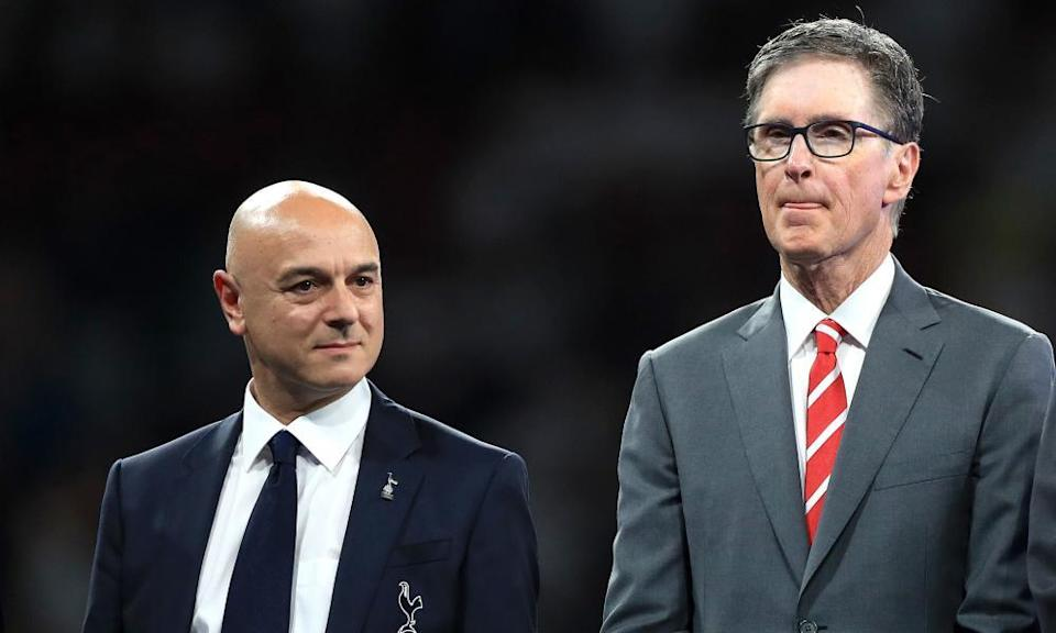 Tottenham's Daniel Levy and Liverpool's John W Henry at the 2019 Champions League final.