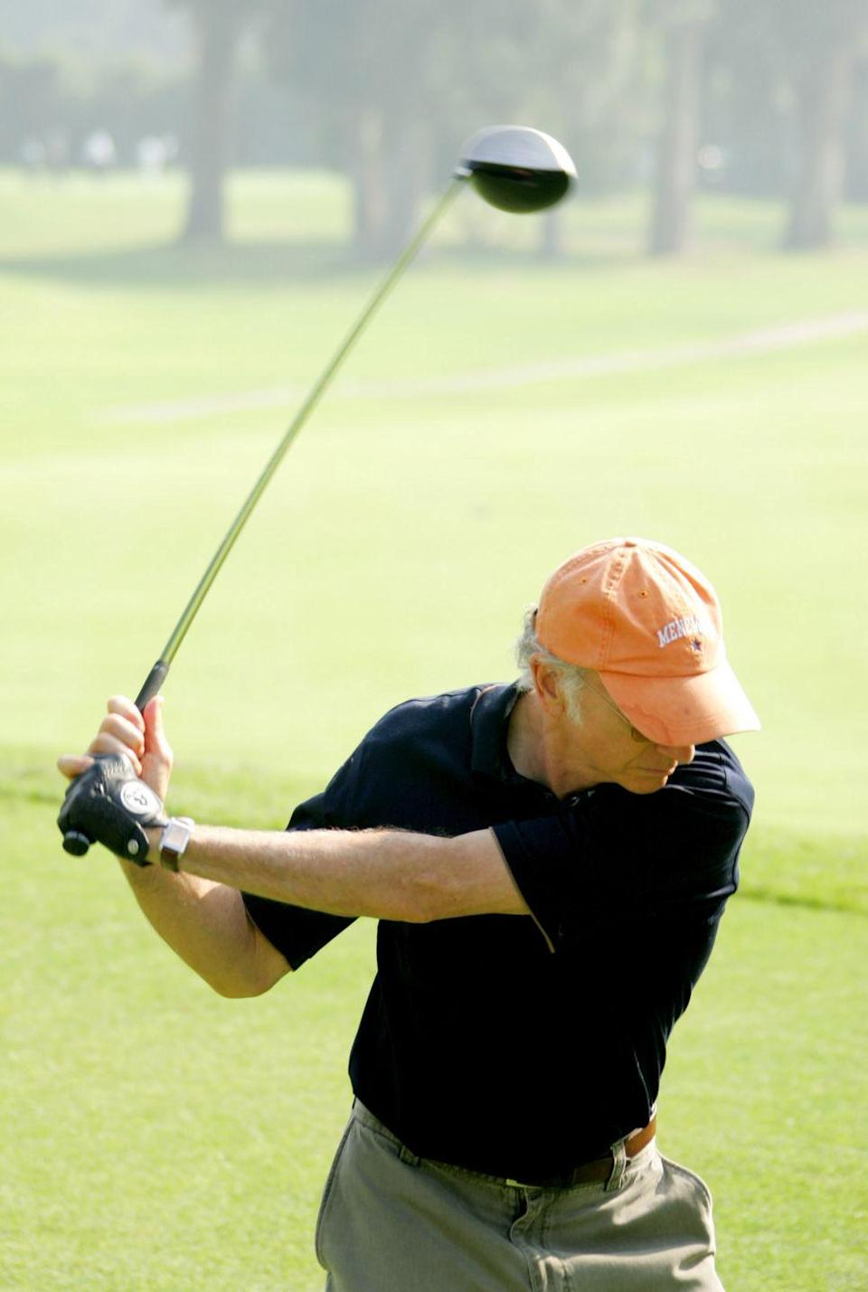 <p>Larry David during Golf Digest Celebrity Invitational to Benefit the Prostate Cancer Foundation at Riviera Country Club in 2005.</p>