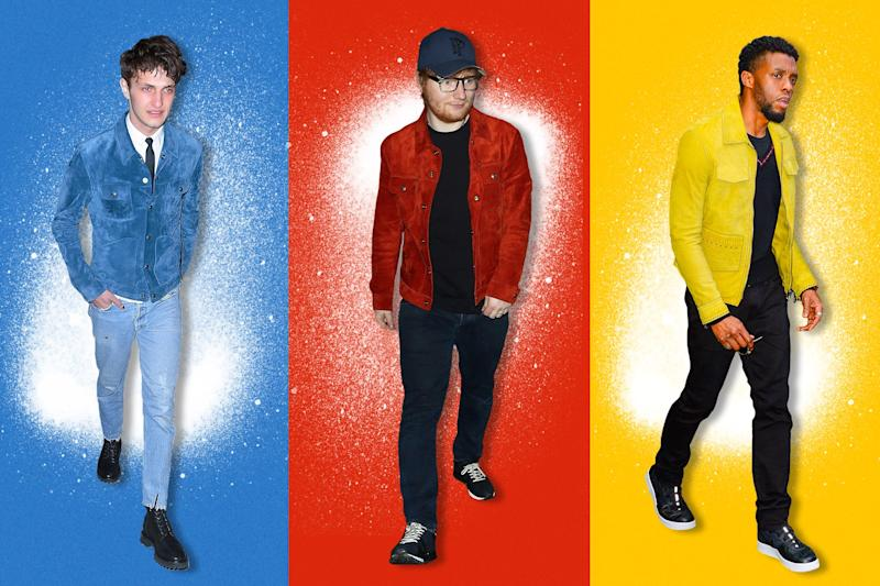 14ba7d67b Very Bright Suede Jackets Are the First Great Trend of 2018