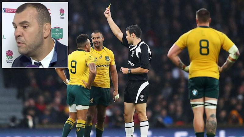 Beale's yellow card was one contentious decision in the match. Pic: Getty