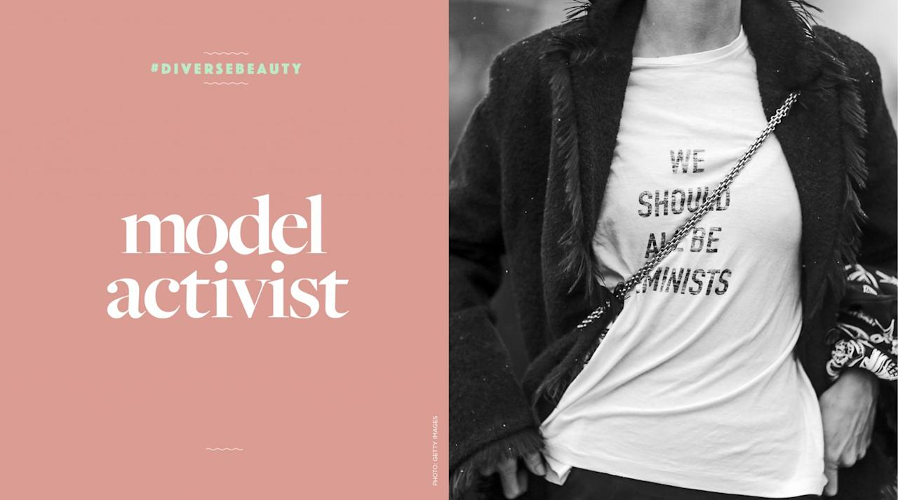 <p>A model who uses thier runway star power for good. </p>