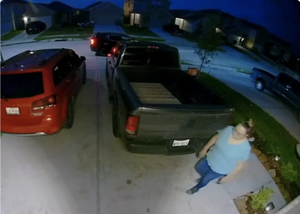 Doorbell footage shows Ms Hernandez on the night she disappeared.