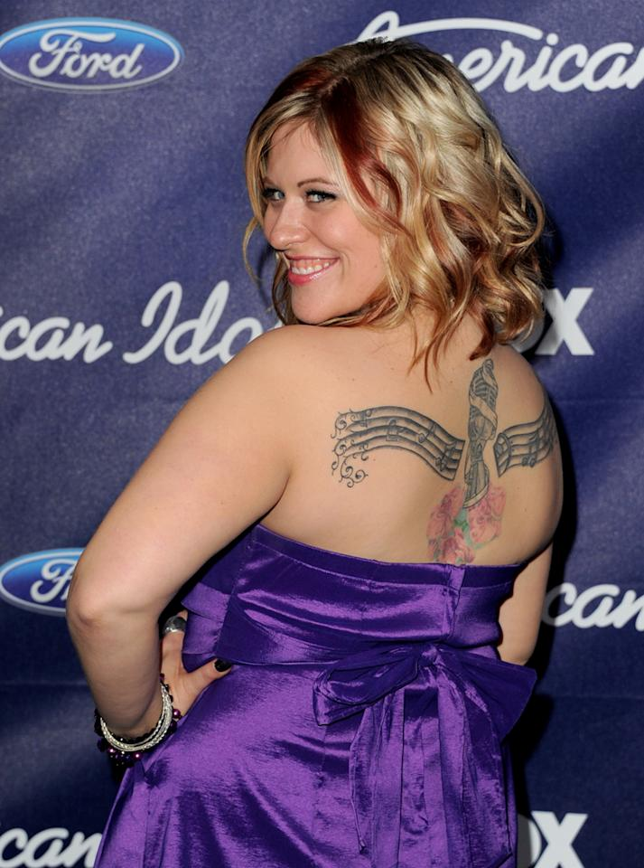 """Finalist Erika Van Pelt attends the Season 11 """"<a href=""""http://tv.yahoo.com/american-idol/show/34934"""">American Idol</a>"""" Top 13 Finalists Party on Thursday, March 1 at The Grove in Los Angeles, CA."""