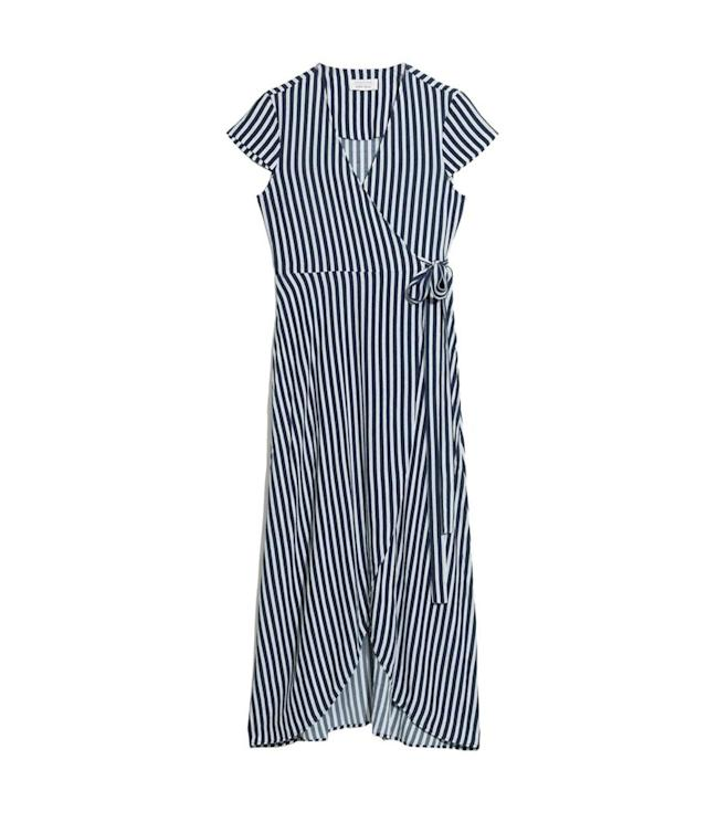 "<p>Wrap dress, $95, <a href=""https://www.stories.com/en_usd/clothing/dresses/product.wrap-dress-navy-stripe.0567151012.html"" rel=""nofollow noopener"" target=""_blank"" data-ylk=""slk:stories.com"" class=""link rapid-noclick-resp"">stories.com</a><br><br></p>"