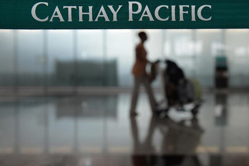 "Cathay Pacific warned it still faces ""strong competition"" from other airlines and airports in the region (AFP Photo/Dale de la Rey)"