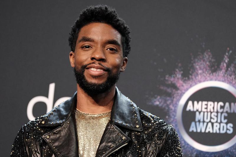 Actor Chadwick Boseman poses in the press room at the 2019 American Music Awards at Microsoft Theater on November 24, 2019 in Los Angeles, California. (Photo by Sarah Morris/FilmMagic)