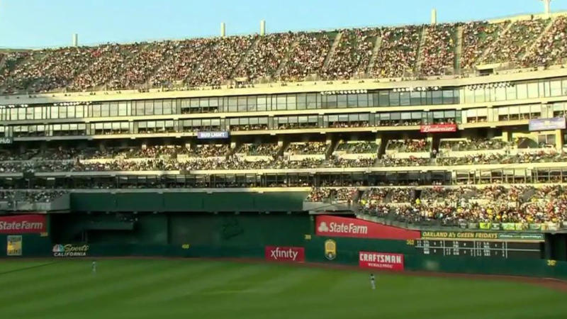 a s set coliseum attendance record in front of 2018 s biggest mlb crowd