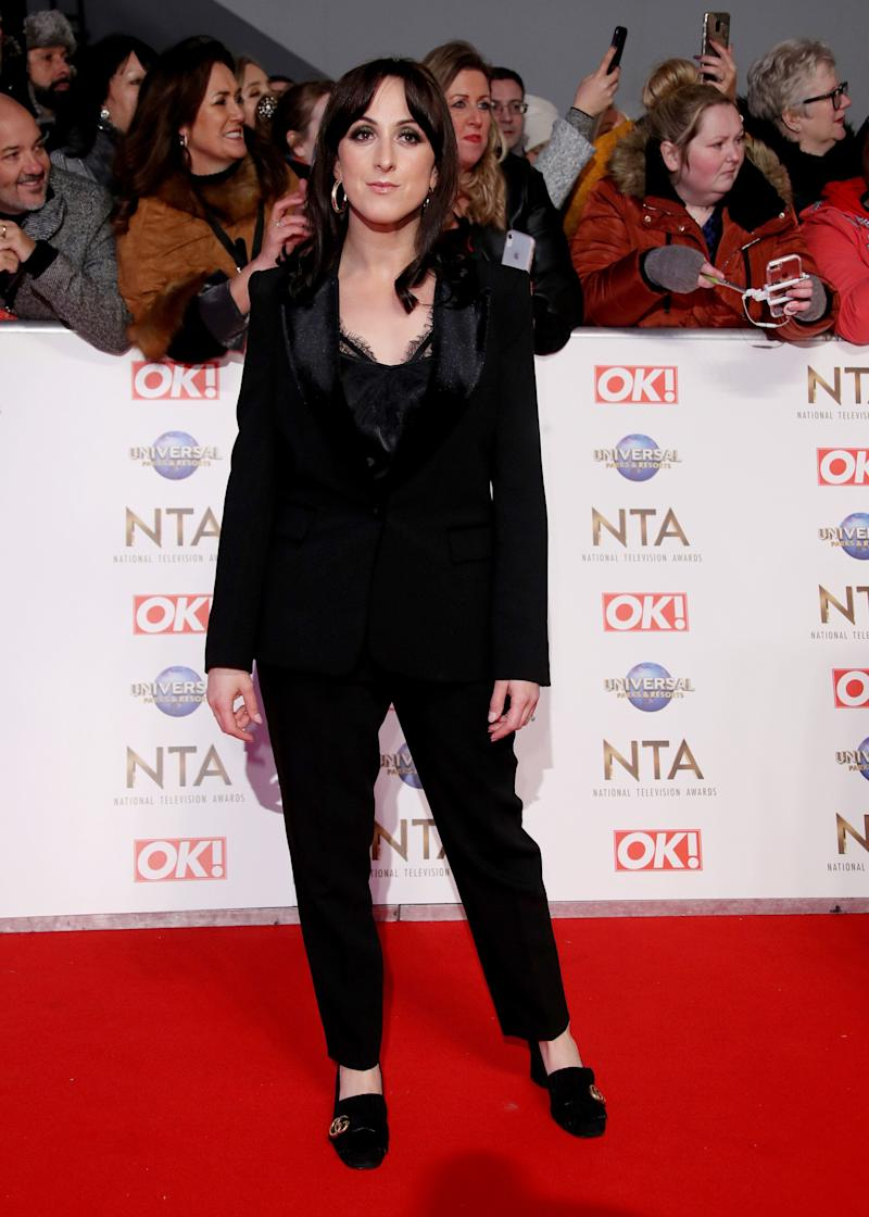 LONDON, ENGLAND - JANUARY 28: Natalie Cassidy attends the National Television Awards 2020 at The O2 Arena on January 28, 2020 in London, England. (Photo by Mike Marsland/WireImage)