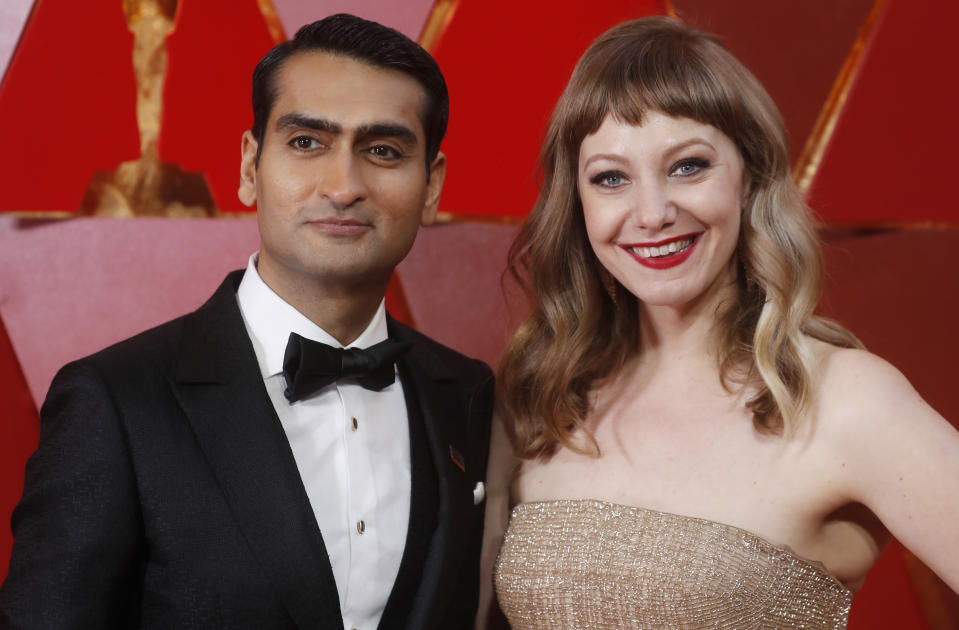 Kumail Nanjiani (with wife Emily V. Gordon at the 2018 Oscars) expressed his frustrations about the ongoing coronavirus pandemic. (Photo: REUTERS/Carlo Allegri)
