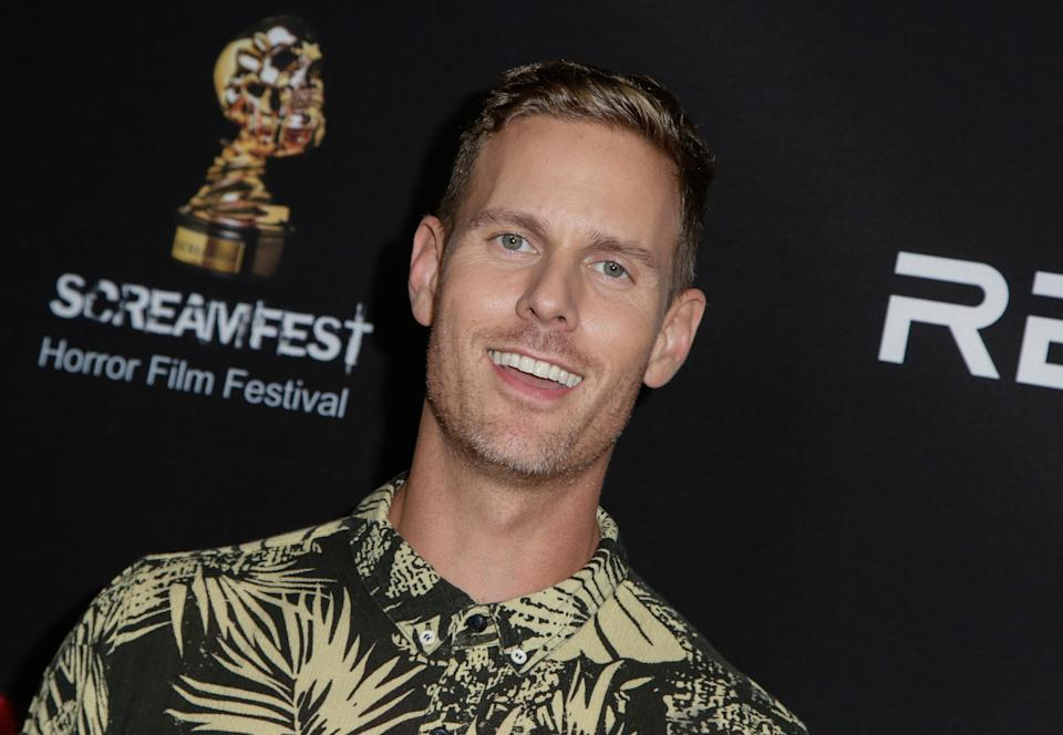 """HOLLYWOOD, CA - OCTOBER 22:  Producer Christopher Landon attends """"Screamfest"""" closing night  screening of Paramount Pictures' """"Paranormal Activity: The Ghost Dimension"""" at TCL Chinese 6 Theatres on October 22, 2015 in Hollywood, California.  (Photo by Vincent Sandoval/WireImage)"""