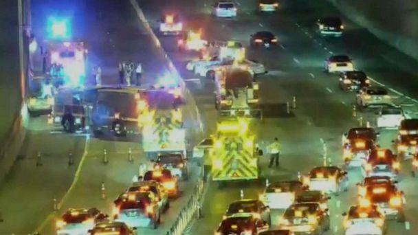 PHOTO: A woman was killed, Jan. 3, 2020, when she was shot in the head while driving on Interstate 95 in Miami. (CCTV-15 via WPLG)
