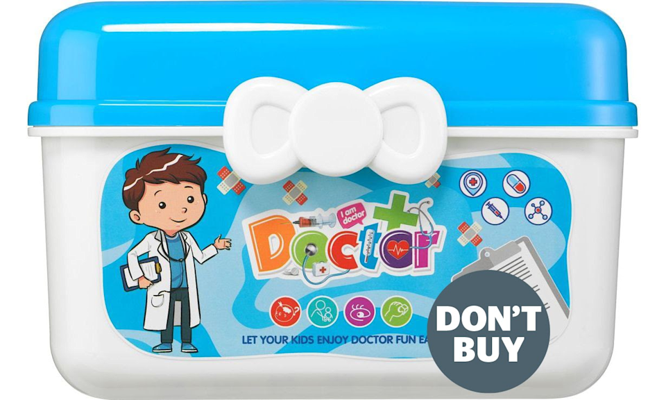 The doctor's set sold on Wish (Which?/PA)