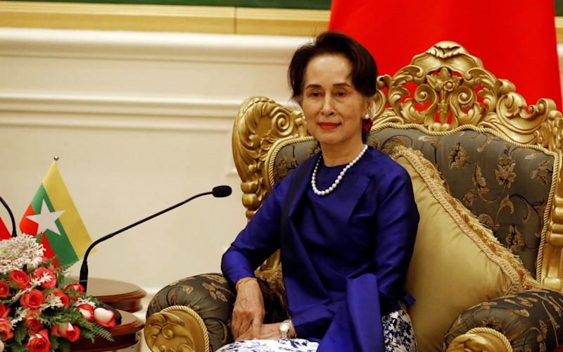 The ICJ ruling was a blow to Aung San Suu Kyi - POOL PHOTO