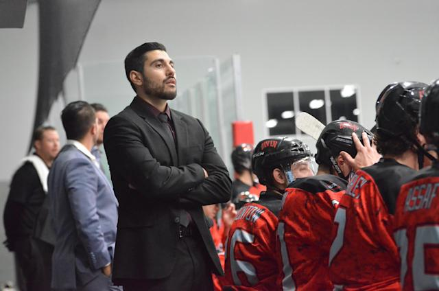 Nick Robone is the associate coach of the UNLV hockey team. (Photo courtesy Beth Parrish)