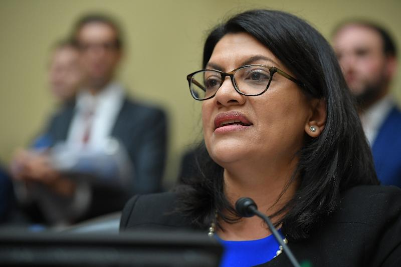 """Rashida Tlaib, a Muslim member of the US Congress, has slammed US President Donald Trump's """"silence"""" on the threat posed by white nationalism (AFP Photo/MANDEL NGAN)"""