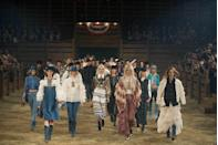 <p>Welcome to Dallas, Texas for the Chanel Metiers D'Art show. There's rodeos and then there are Chanel rodeos: flags bearing the red, white and blue, models decked out in cowboy hats and boots and a finale stampede that could have passed as the Pamplona. </p>