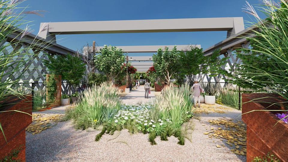 An artist's impression of what the Manchester park would look like (Credit: The National Trust/12 Architects)