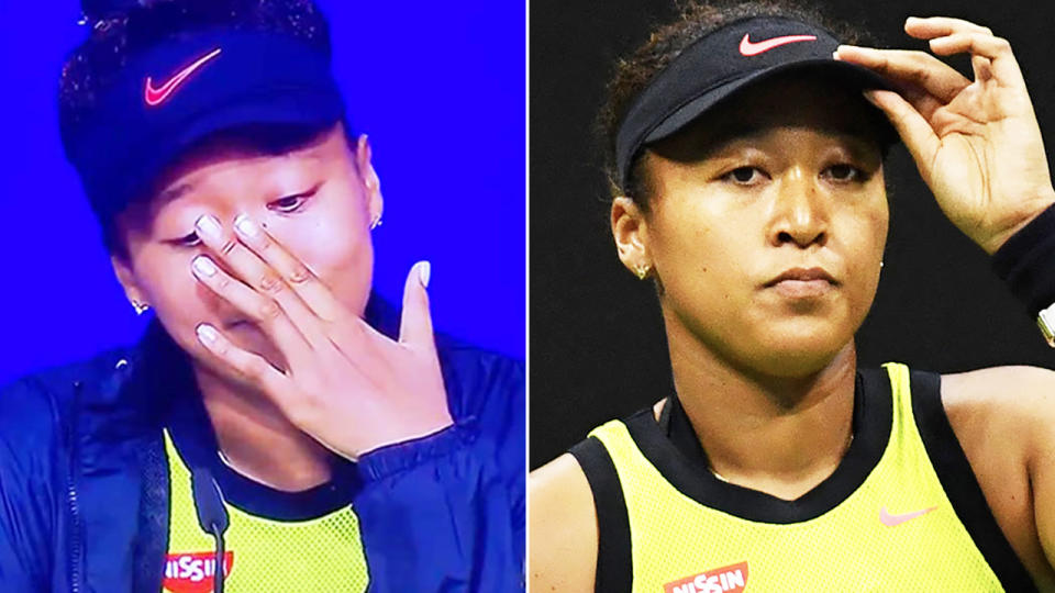 Naomi Osaka, pictured here after losing at the US Open.