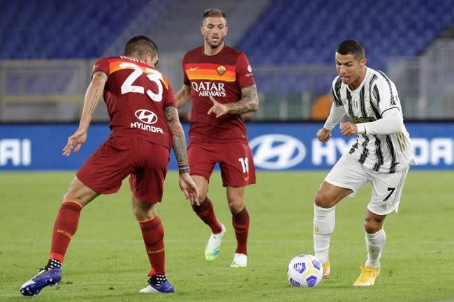 Ronaldo's header salvages draw for Juventus at Roma
