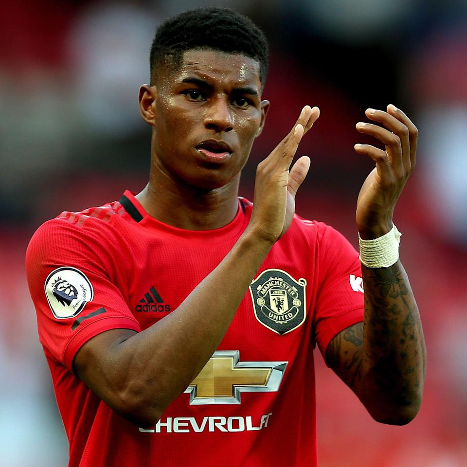 Marcus Rashford is calling for free school meals in England to be extended over the holidays - Nigel French/PA