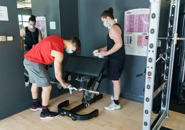Gyms in and around Montreal are allowed to reopen, starting Friday.  (Paul Chiasson/The Canadian Press - image credit)