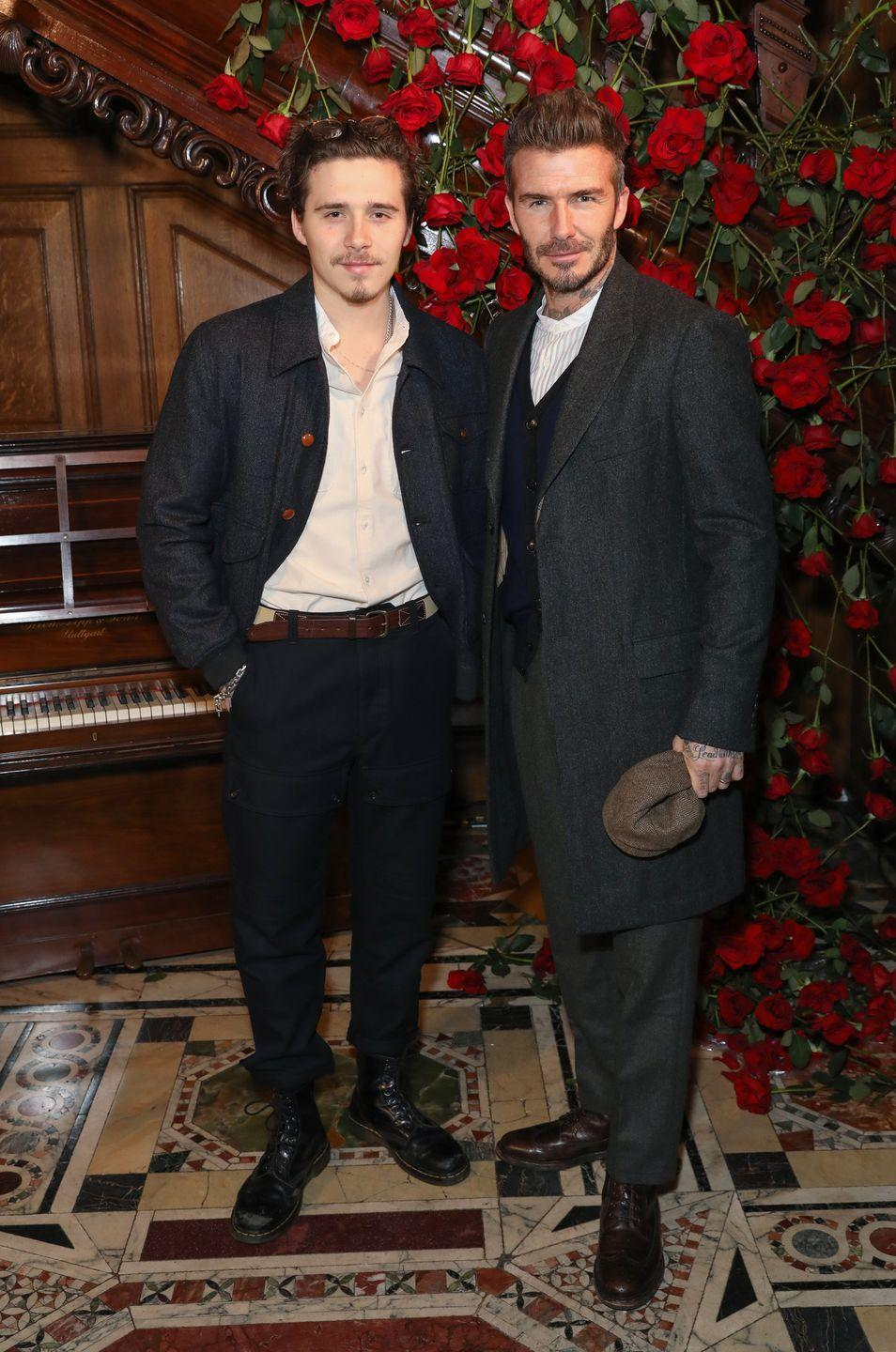 <p>The photographer has certainly inherited his good looks and love of tattoos from his footballer father. </p><p>The pair share a love of Peaky Blinders-inspired overcoats, brogues and collarless shirts and regularly share clothes.</p>
