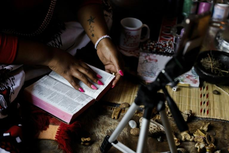 South African sangomas offer services including dream interpretations using tools like the Bible