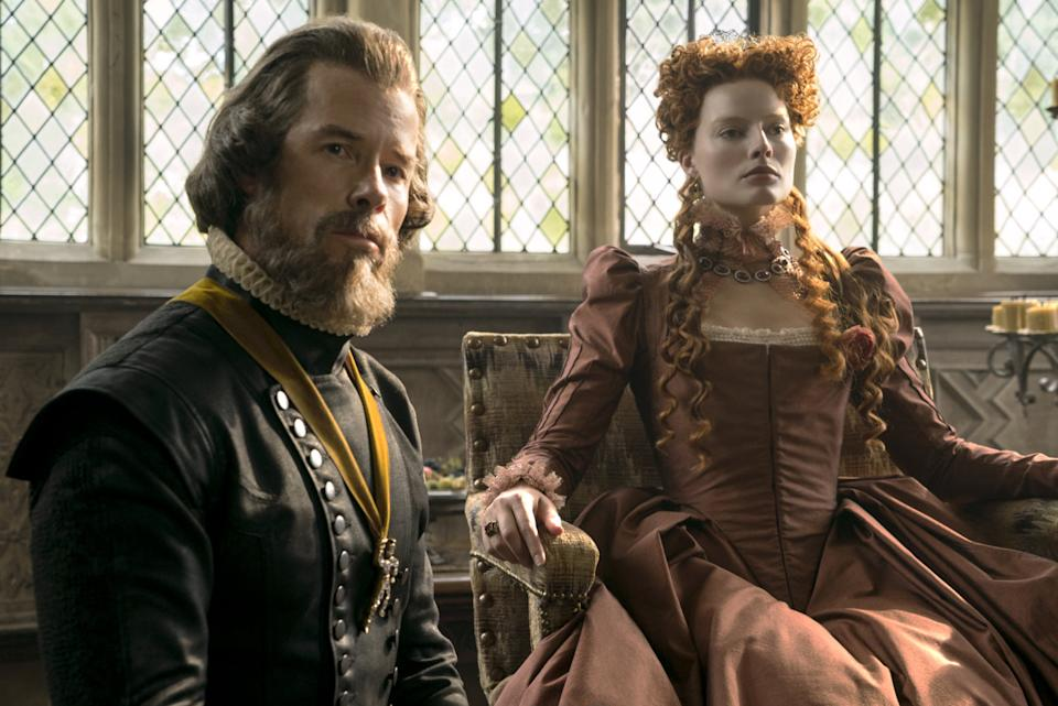 The Tudor period of history always captures the attention of British audiences and, coupled with A-list figures Margot Robbie and Saoirse Ronan in dramatic make-up, it couldn't fail to be noticed. (Credit: Universal)