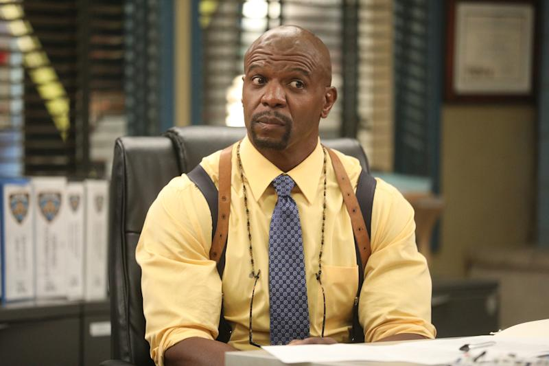"BROOKLYN NINE-NINE -- ""Ransom"" Episode 712 -- Pictured: Terry Crews as Terry Jeffords -- (Photo by: Jordin Althaus/NBC/NBCU Photo Bank via Getty Images)"