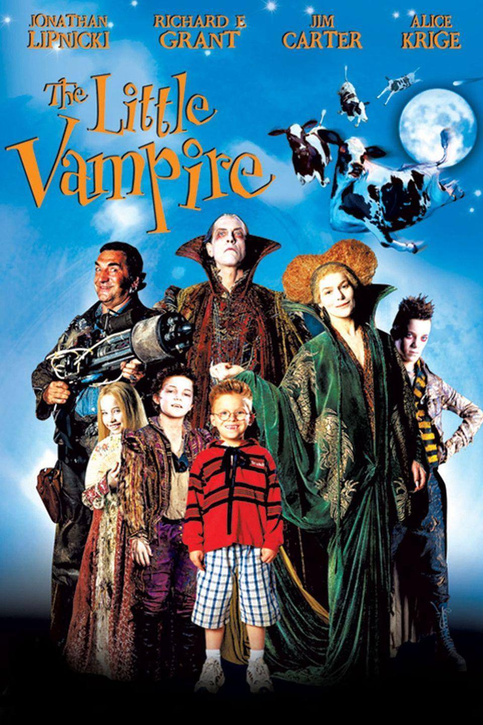 """<p>This feel good movie is about a little boy who befriends a vampire as the two search for a magical amulet that can turn the vampire, and his family, into humans. </p><p><a class=""""link rapid-noclick-resp"""" href=""""https://www.amazon.com/Little-Vampire-Jonathan-Lipnicki/dp/B007IXNBGC/?tag=syn-yahoo-20&ascsubtag=%5Bartid%7C10065.g.29354714%5Bsrc%7Cyahoo-us"""" rel=""""nofollow noopener"""" target=""""_blank"""" data-ylk=""""slk:Watch Now"""">Watch Now</a></p>"""