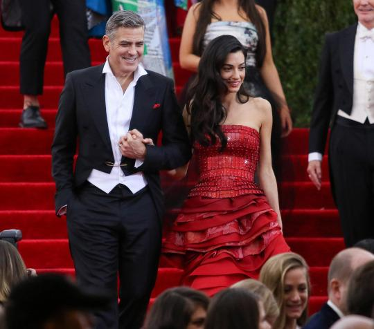 George and Amal Clooney at the Met Gala in May (Getty Images)