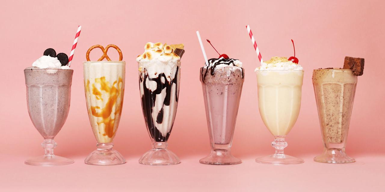 <p>For these easy milkshake recipes, we recreated some of our favorite desserts (umm...banana cream pie?)-and turned to heavenly ingredient combos like peanut butter and brownie.</p>