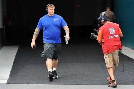 Sep 27, 2015; Miami Gardens, FL, USA; Buffalo Bills offensive guard Richie Incognito (64) takes the field before a game against the Miami Dolphins at Sun Life Stadium. Mandatory Credit: Steve Mitchell-USA TODAY Sports / Reuters Picture Supplied by Action Images