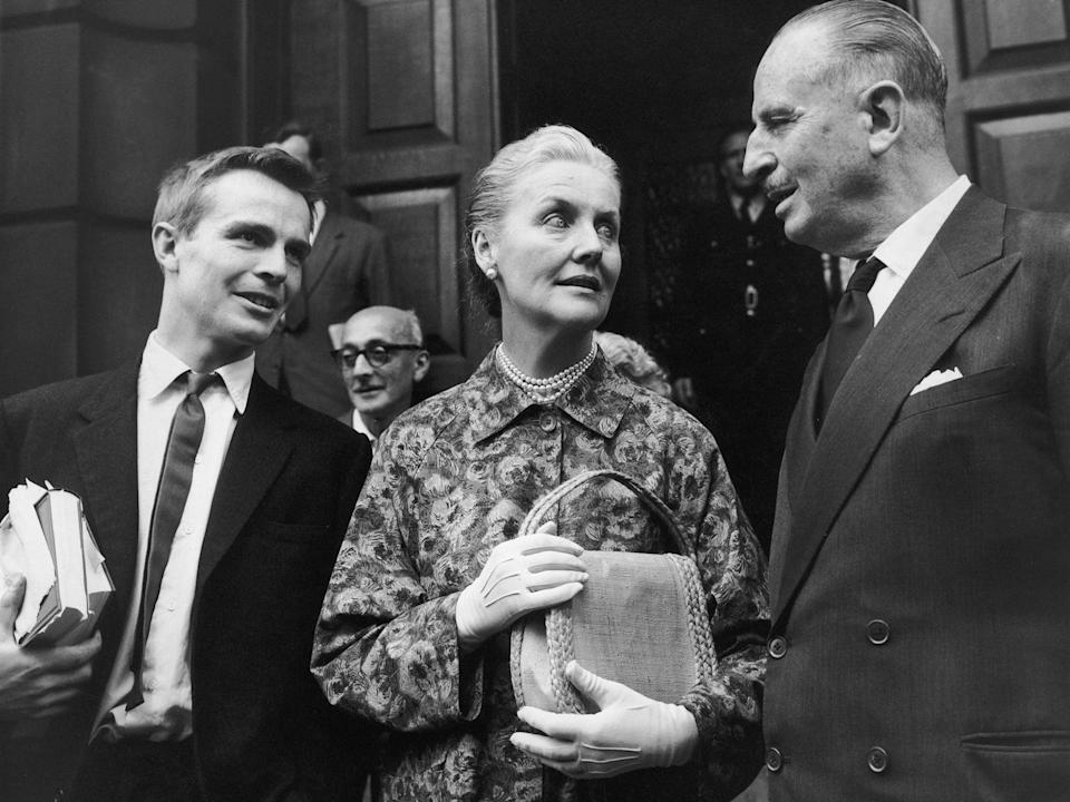 Mosley with his parents, Diana and Sir Oswald, in 1962 (Getty)