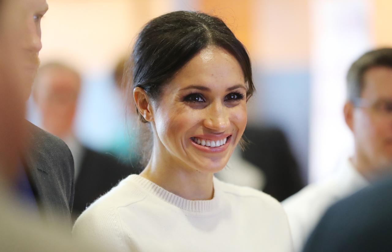 <p>Markle apparently used to teach calligraphy, gift-wrapping and book-binding in Beverly Hills. She freelanced too, and even writing the invites for Robin Thicke and Paula Patton's wedding in 2005. [Photo: PA] </p>