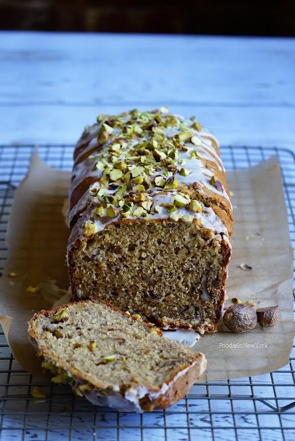 """<p>Another extra-smart take on a standard. The sweet flavor of roasted pistachios pairs beautifully with the banana.</p><p><strong>Get the recipe at <a href=""""https://www.foodieinnewyork.com/home-main/2016/07/banana-walnut-bread-with-pistachios"""" rel=""""nofollow noopener"""" target=""""_blank"""" data-ylk=""""slk:Foodie in New York"""" class=""""link rapid-noclick-resp"""">Foodie in New York</a>.</strong></p><p><a class=""""link rapid-noclick-resp"""" href=""""https://www.amazon.com/USA-Pan-1140LF-Bakeware-Aluminized/dp/B0029JQEIC/?tag=syn-yahoo-20&ascsubtag=%5Bartid%7C10050.g.35246097%5Bsrc%7Cyahoo-us"""" rel=""""nofollow noopener"""" target=""""_blank"""" data-ylk=""""slk:SHOP LOAF PANS"""">SHOP LOAF PANS</a><br></p>"""