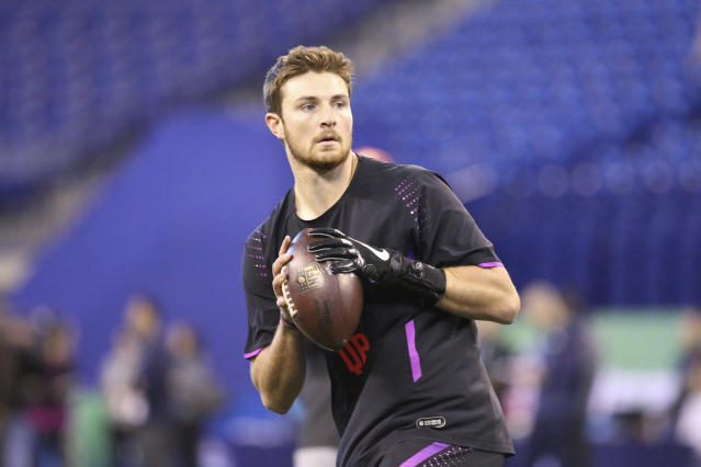 Washington State quarterback Luke Falk was drafted 199th overall – the same spot as his idol, Tom Brady. (AP)