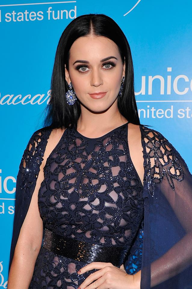 NEW YORK, NY - NOVEMBER 27:  Katy Perry  attends the Unicef SnowFlake Ball at Cipriani 42nd Street on November 27, 2012 in New York City.  (Photo by Stephen Lovekin/Getty Images)