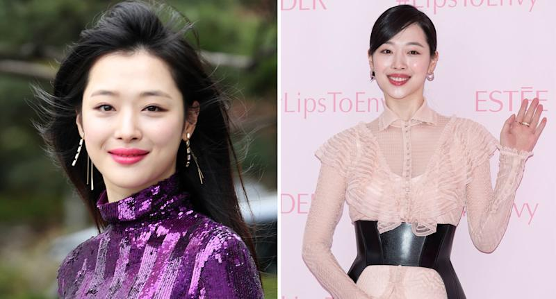 K-Pop star Sulli pictured as police reveal autopsy results following her sudden death.
