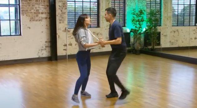 Janette Manrara and Will Bayley in Strictly rehearsals in 2018 (Photo: BBC)