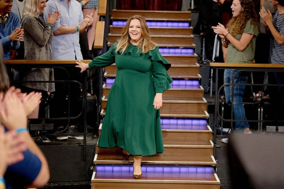 """<p>For this comedian, losing weight was all about thinking less. """"I stopped over-analyzing, over-thinking, over-doing anything,"""" she told <a href=""""https://www.youtube.com/watch?v=z0FpTtu-j-4"""" rel=""""nofollow noopener"""" target=""""_blank"""" data-ylk=""""slk:CBS This Morning"""" class=""""link rapid-noclick-resp""""><em>CBS This Morning</em></a>. """"I just stopped constantly being worried about it and I think there's something to kinda loosening up and not being so nervous and rigid about it that, bizarrely, has worked. I could've figured that out before 44, but whatever."""" The now 50-year-old reportedly dropped 75 pounds, according to <a href=""""https://www.iheart.com/content/2018-04-03-melissa-mccarthy-is-unrecognizable-after-stunning-weight-loss/"""" rel=""""nofollow noopener"""" target=""""_blank"""" data-ylk=""""slk:iHeart radio"""" class=""""link rapid-noclick-resp"""">iHeart radio</a>.<br></p>"""