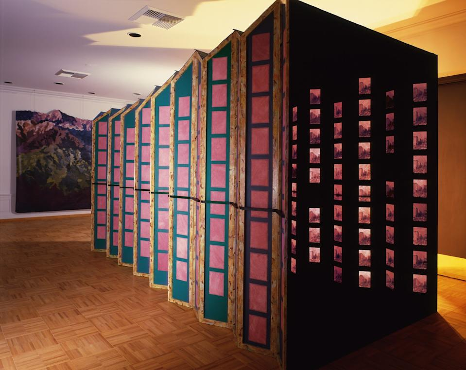 """""""Mountain Wedge"""" was a 1986-87 installation you walked through."""