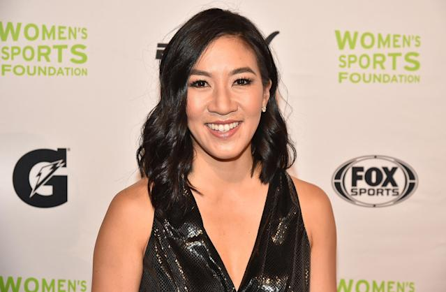 <p>Figure Skater Michelle Kwan attends the 37th Annual Salute To Women In Sports Gala at Cipriani Wall Street on October 19, 2016 in New York City. (Photo by Theo Wargo/Getty Images for Women's Sports Foundation) </p>