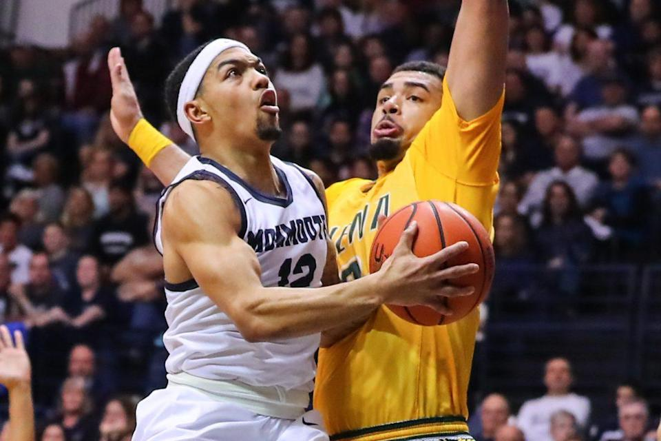 Top-seeded Monmouth lost Sunday on Siena's home floor. (Getty Images)