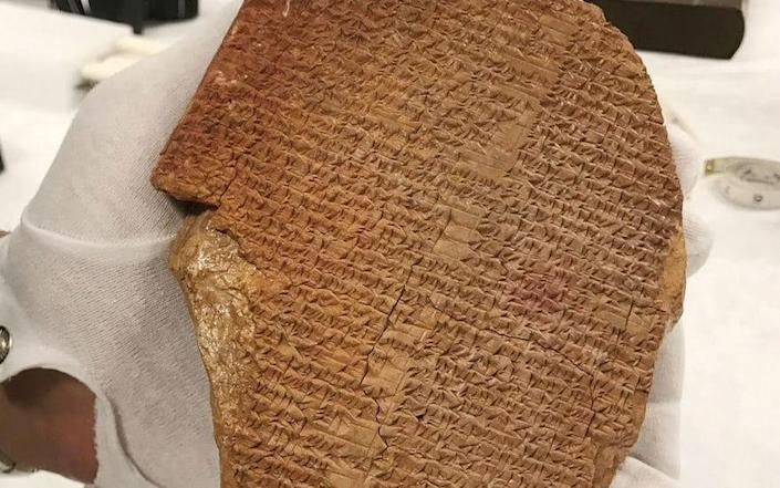 The Gilgamesh Dream Tablet, a rare portion of one of the most ancient works of literature originally from Iraq